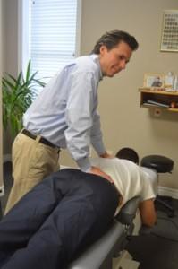 Dr. Gonchar adjusting.