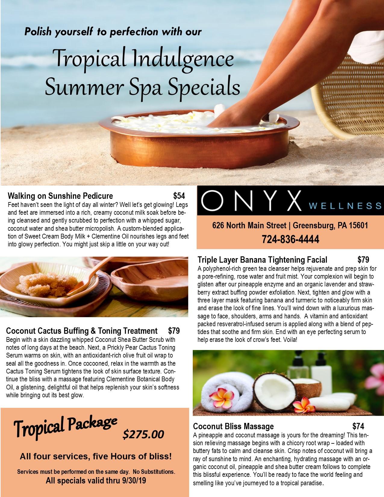 Summer Spa Specials Flyer 2019