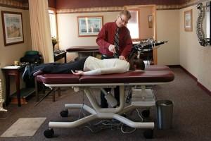 Dr. Westerberg doing an Instrument-based Adjustment.