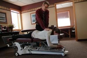 Dr. Westerberg adjusting a patient.