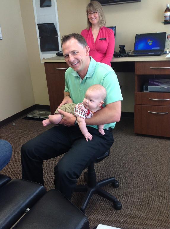Dr. Brisbin baby chiropractic