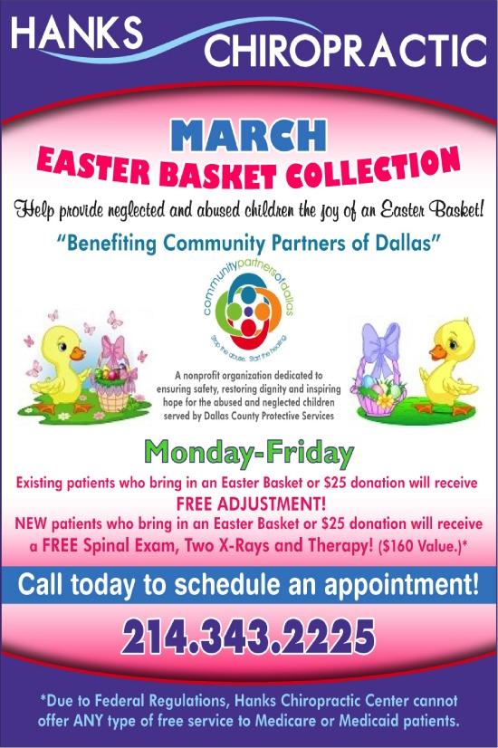 Hanks Chiropractic Easter Basket Drive