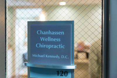 Chanhassen Wellness Chiropractic door sign