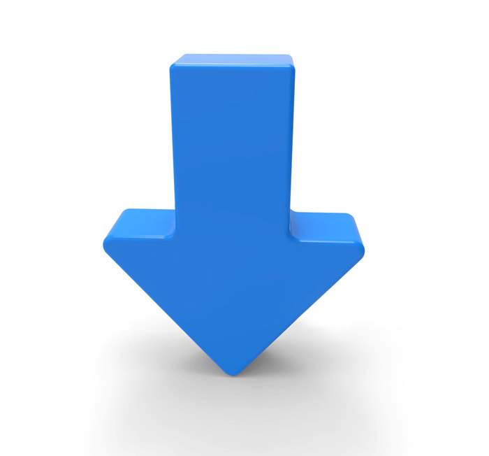 arrow-pointing-down-blue