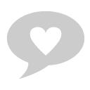 heart inside text bubble