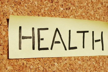 Health on a cork board
