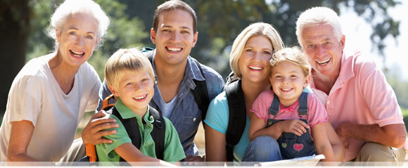 Happy Multi generational family