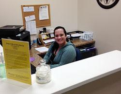 Elkton Chiropractor receptionist.