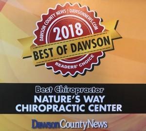 2018 Best Chiropractor Award