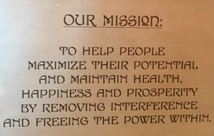 Dawsonville chiropractor mission statement.