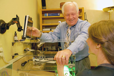 Dr. O'Neill with patient