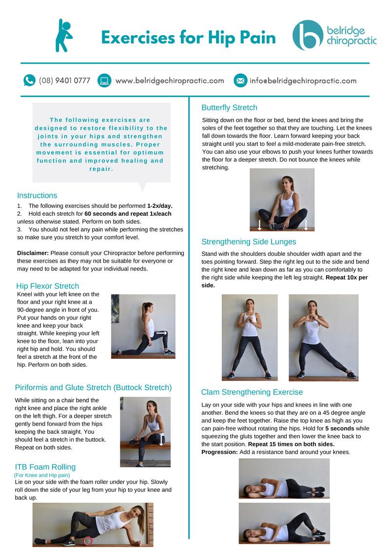 Hip Pain Exercies