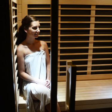Patient in sauna