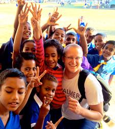 Dr. Scott working in a clinic abroad in Fiji.