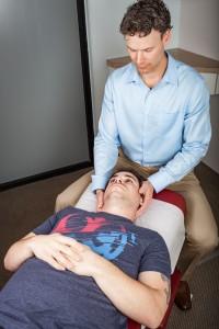 Dr. Dan giving chiropractic treatment