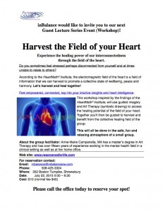 Harvest the field of the heart {PRACTICE NAME}