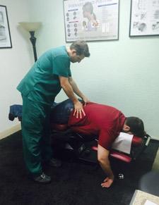 {PRACTICE NAME} Chiropractor, Dr. Spicuzzo Adjusting