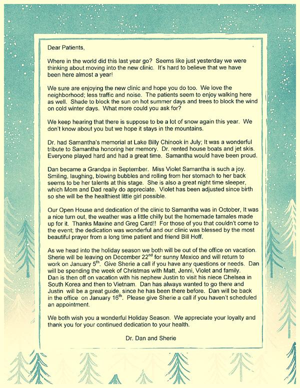 2017 Christmas Letter