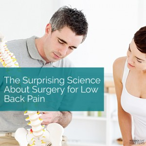 Week 4 - The Surprising Science About Surgery for Low Back Pain (a)