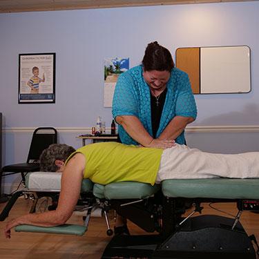 Dr. Richter adjusting patient