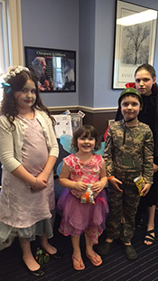 Halloween four kids dressed up