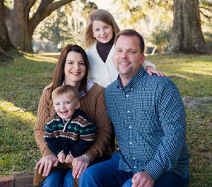 North Charleston dentist, Dr. Julian Campbell and his family