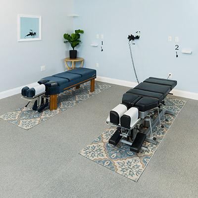 Hartley Chiropractic Center adjusting room