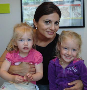 Burlington chiropractor Dr. Lardi and children