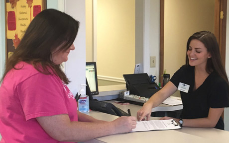 Permenter Chiropractic front desk staff.