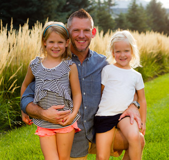 Waukee Chiropractor, Dr. Tyler Molstre and family