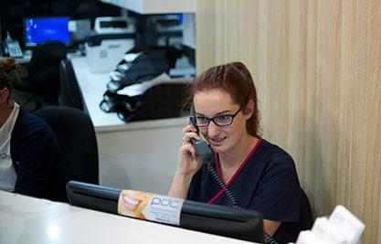 Reception desk at Parramatta Dental Clinic