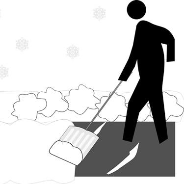 Snowshovelling illustration