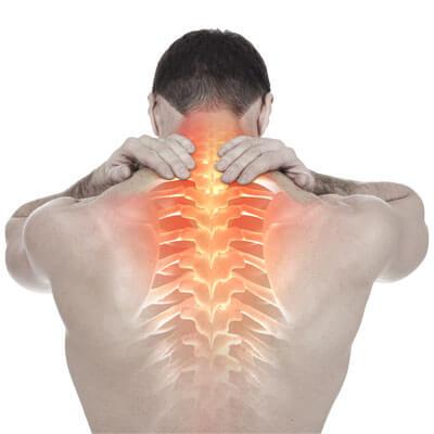 Upper back pain spine