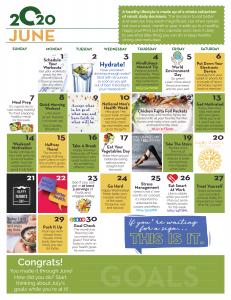 June Wellness Calendar