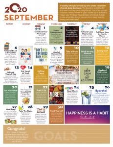 September wellness calendar