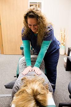 Edwardsville Chiropractor, Dr. Kari and Patient