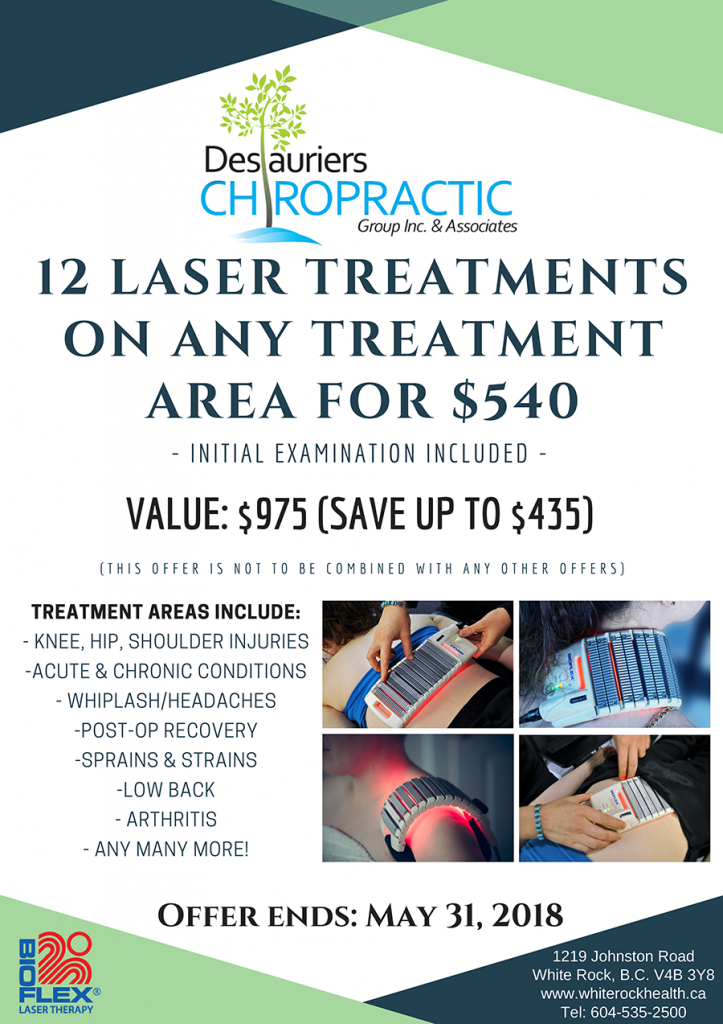 April 2018 Laser Therapy Promo Flyer
