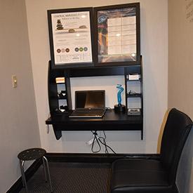 Patient consultation area