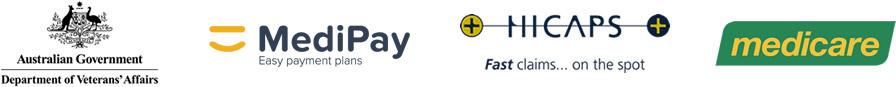 dental payment options logos