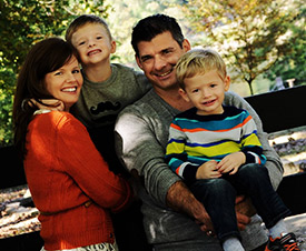 Dr. Joe and his family