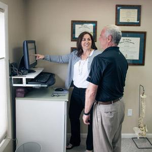 Clarks Summit Chiropractor, Jennifer Finn consults