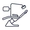 Illustration of dentist chair