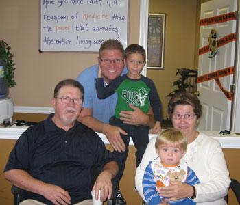Dr. Scott Pint and patients