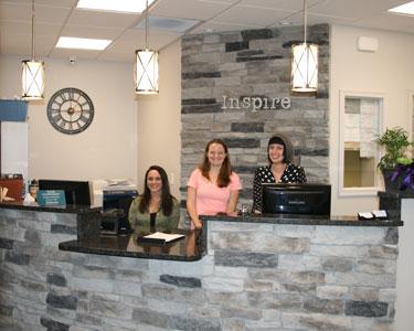 Inspire Chiropractic & Wellness reception area