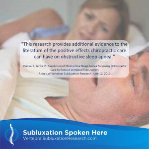 Chiropractic and Sleep Apnea