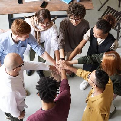 corporate employee team unity