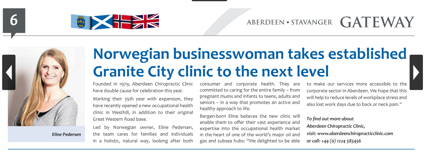 Aberdeen Chiropractic Clinic in the news