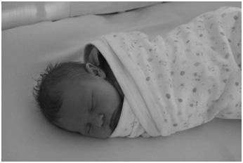 Rachael Dunn's new baby, Amber Daisy