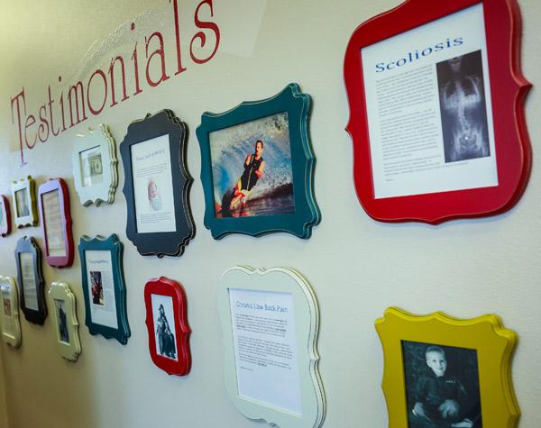 Testimonial wall