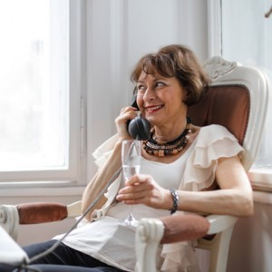 woman on phone call